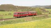 Schienenbus auf Eifelquerbahn