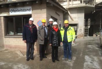 von links nach rechts: Dieter Demoulin, Jörg Ramcke, Jens Jenssen, Astrid Schmitt und ein Mitarbeiter Wotan Zement.